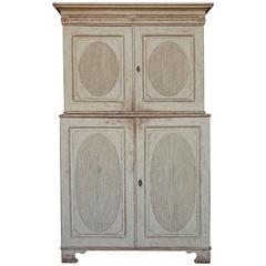 Period Gustavian Set Back Cabinet