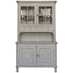 Two-Part Swedish Cupboard with Serving Surface