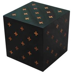 Modern Edward Wormley for Dunbar Parquetry Cube Table
