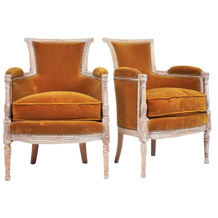 A Pair Of Period French Chairs With Missoni Fabric At 1stdibs: Early 19th Century Pair Of French Directoire Style