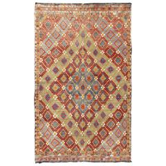 Colorful Kilim/Jijim with Diamonds