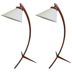 Iconic Pair of Danish Modern Floor Lamps