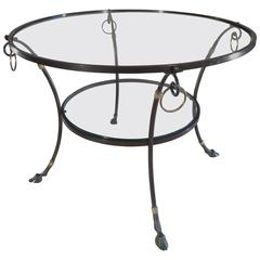 Late 20h Century Iron Patinated Low Round Table, circa 1960-1970