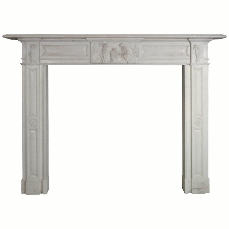 19th Century Regency Irish Mantel Reproduction in Statuary