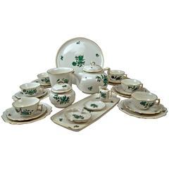 Augarten Vienna Tea Set Six Persons Decor Maria Theresia Form Belvedere