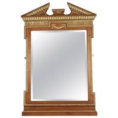19th Century Neoclassical Mirror in Gold Giltwood and Gesso