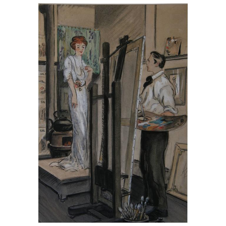 Artist Studio Gouache For Sale At 1stdibs