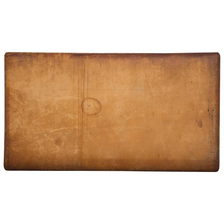 Vintage Leather Gymnastics Tumble Mat With Patina At 1stdibs