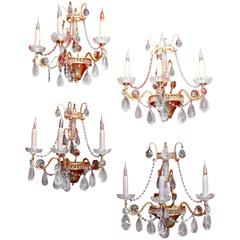 Set of Four Matching Beautiful Sconces
