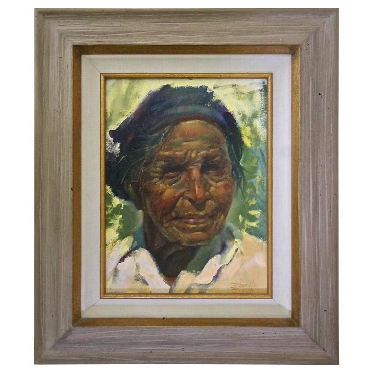 Ernesto Zepeda Native American Oil Painting