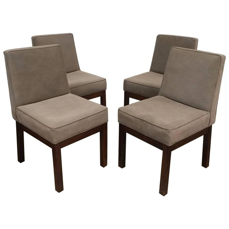 Set of Four Parsons Style Dining Chairs by Van Keppel and Green