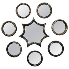 Set of Eight Parchment Mirrors