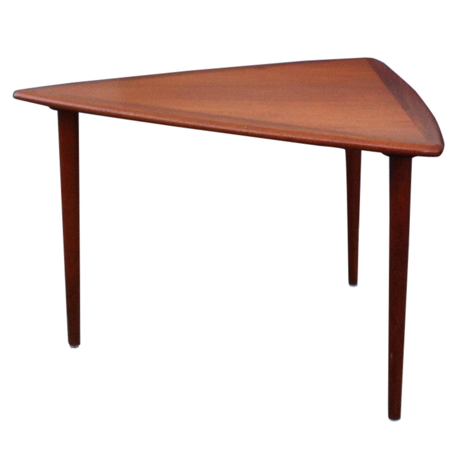 Small Modern Coffee Table 1960s For Sale At 1stdibs: Triangular Shaped Danish Modern 1960s Coffee Table With