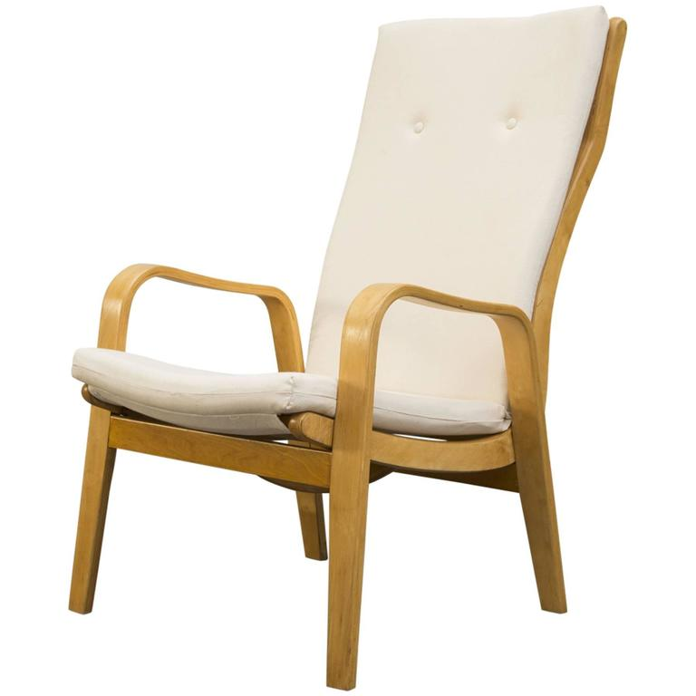 High Back Cees Braakman Bentwood Lounge Chair by Pastoe