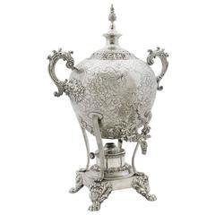 Fine English 19th Century Regency Style Sheffield Plate Hot Water-Tea Samovar