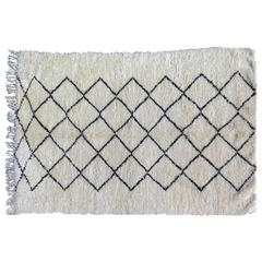 Beni Ourain Moroccan White and Black Rug