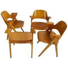 Plywood Arm Chairs by Elias Svedberg, Nordiska Konipaniet, Sweden