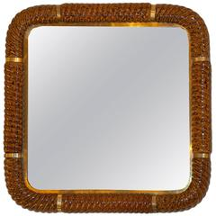 Square Mirror by Tommaso Barbi, Italy, 1970s