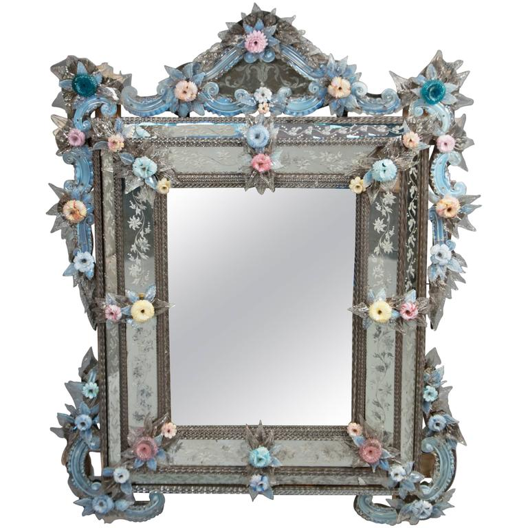 Venetian Mirror, Italy, Murano, Late 19th Century For Sale at 1stdibs