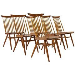 "Set of Six George Nakashima ""New"" Chairs"
