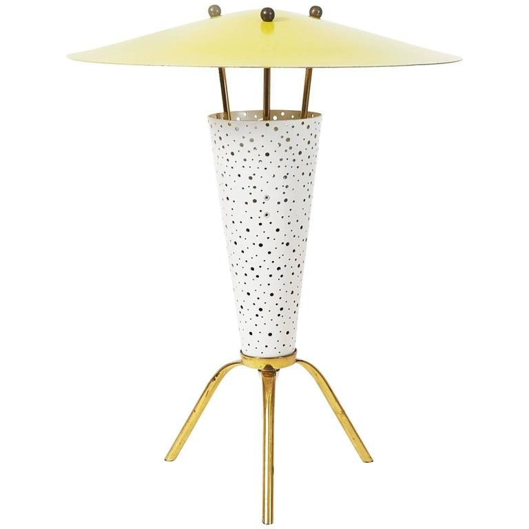 Rare Tripod Table Lamp By Ernest Igl, 1950s For Sale