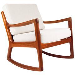Ole Wanscher 'Senator' Danish Rocking Chair, 1960