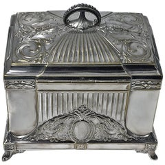 WMF Jugendstil Secessionist Jewelry Box, Germany, circa 1900