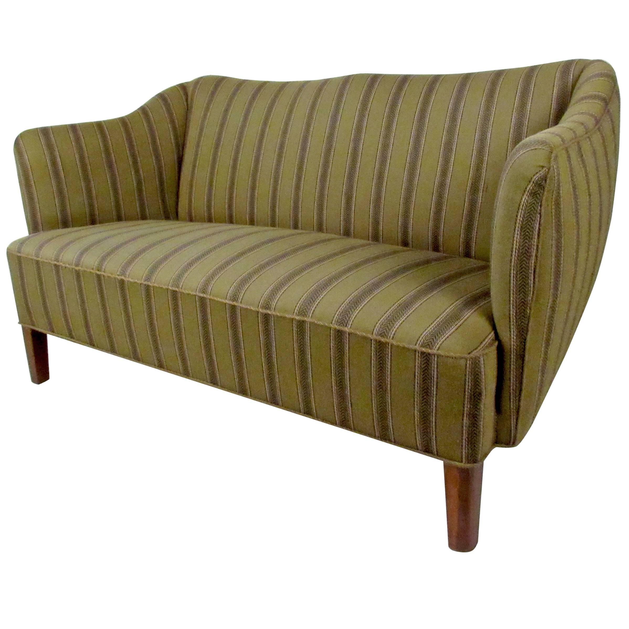 Scandinavian Modern Two Seat Sofa