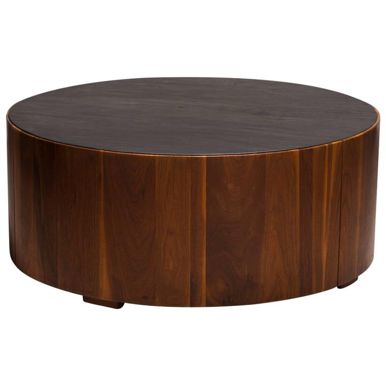 Phillip Lloyd Powell Coffee Table, Sculpted Wood with Slate Top, circa 1960s