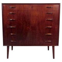 Scandinavian Teak Highboy Dresser by Kai Kristiansen
