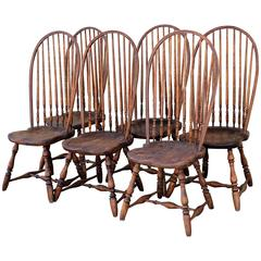 Set of Six High Back Windsor Chairs