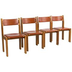 "Set of Four ""S11"" Chairs by Pierre Chapo"
