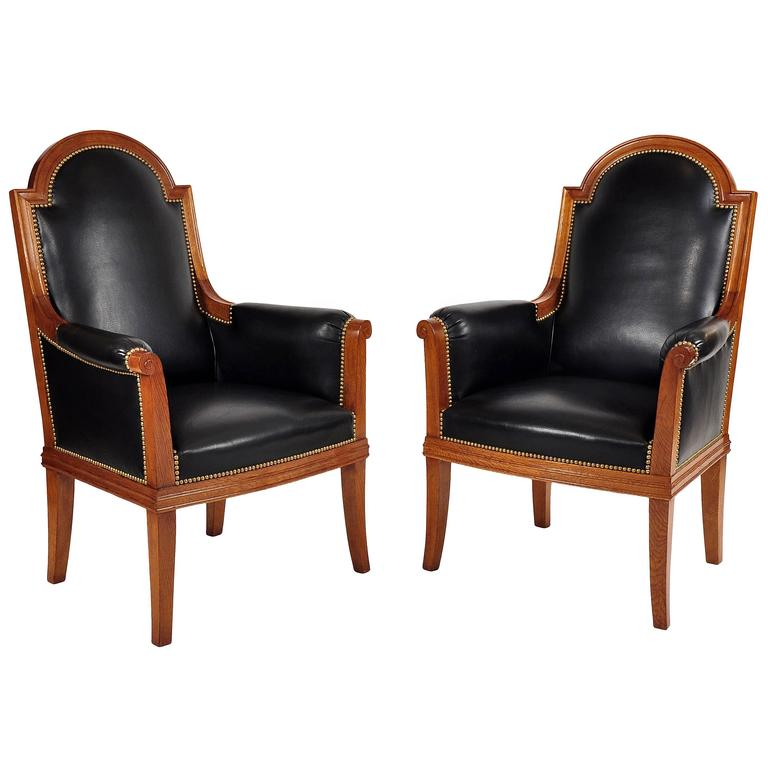 Pair of Armchairs by Louis Sue Art Moderne, France, circa 1950 For Sale