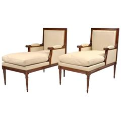 Pair of Long Bergeres by Maison Jansen, France, circa 1970