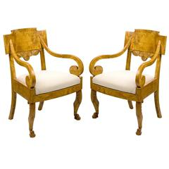 Pair of Armchairs, Russian, Neoclassical, circa 1830