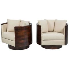 Atelier Wood Back Swivel Chairs