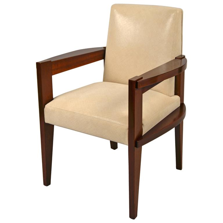 Desk chair by andr sornay france lyon circa 1940 at 1stdibs - Vintage lyon lounge ...