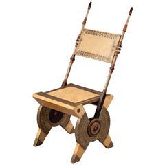 Single Chair by Carlo Bugatti, Italy, Milan, circa 1900