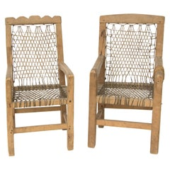 Antique Native American Miniature Chairs, Northwest Coast, circa 1900
