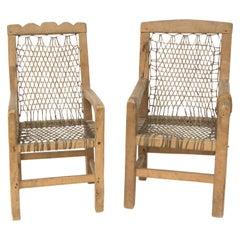 Antique Native American Miniature Chairs, Northwest Coast, circa 1900