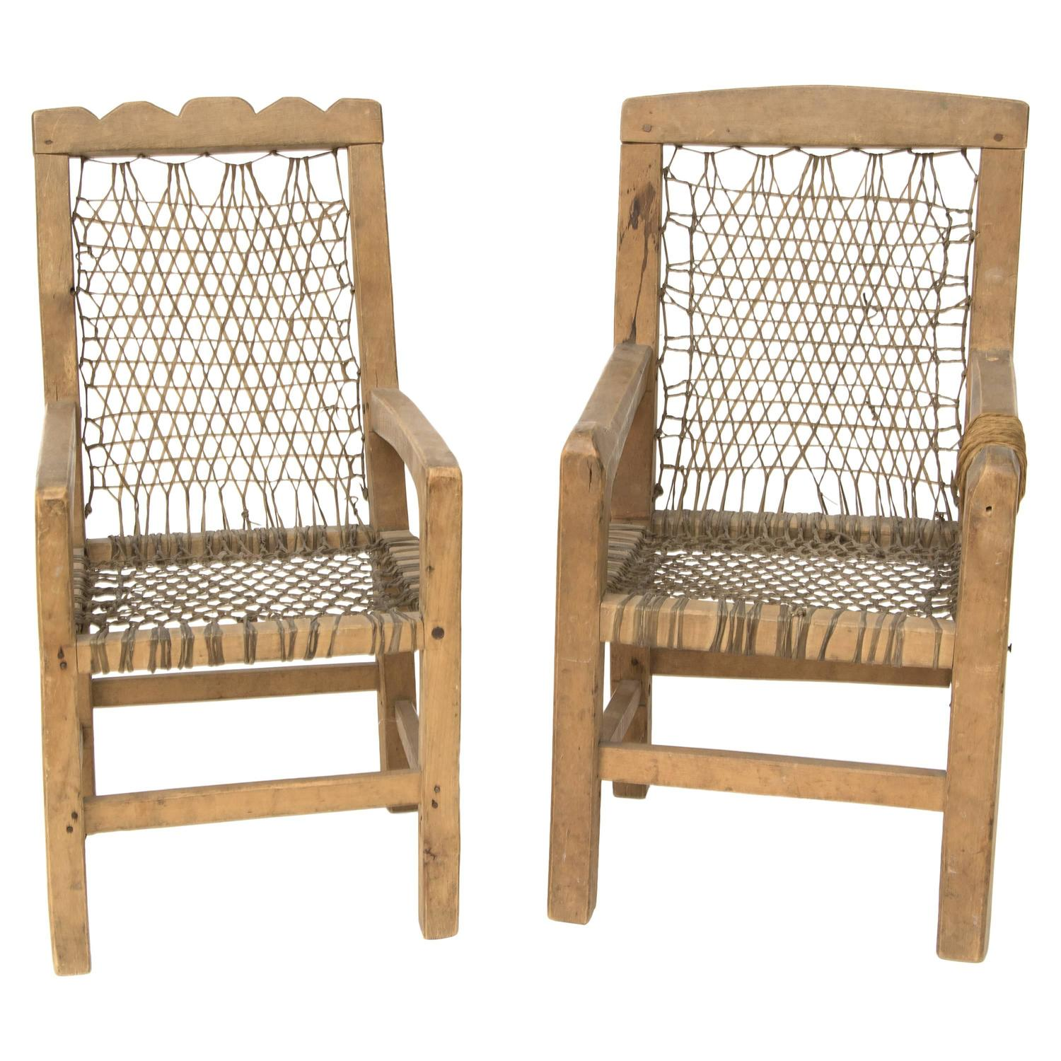 Antique native american miniature chairs northwest coast for Furniture northwest