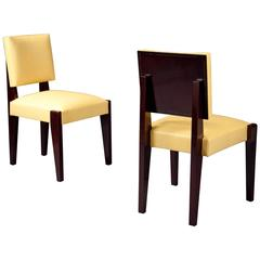 Pair of Side Chairs by André Sornay, France, Lyon, 1940s
