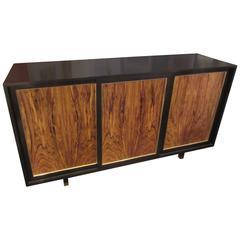 Harvey Probber Three-Door Rosewood Credenza or Dresser/ 12 Interior Drawers