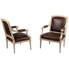 Pair of Armchairs by Claude Il Sene 'Maitre 1769' Louis XVI, France, circa 1780
