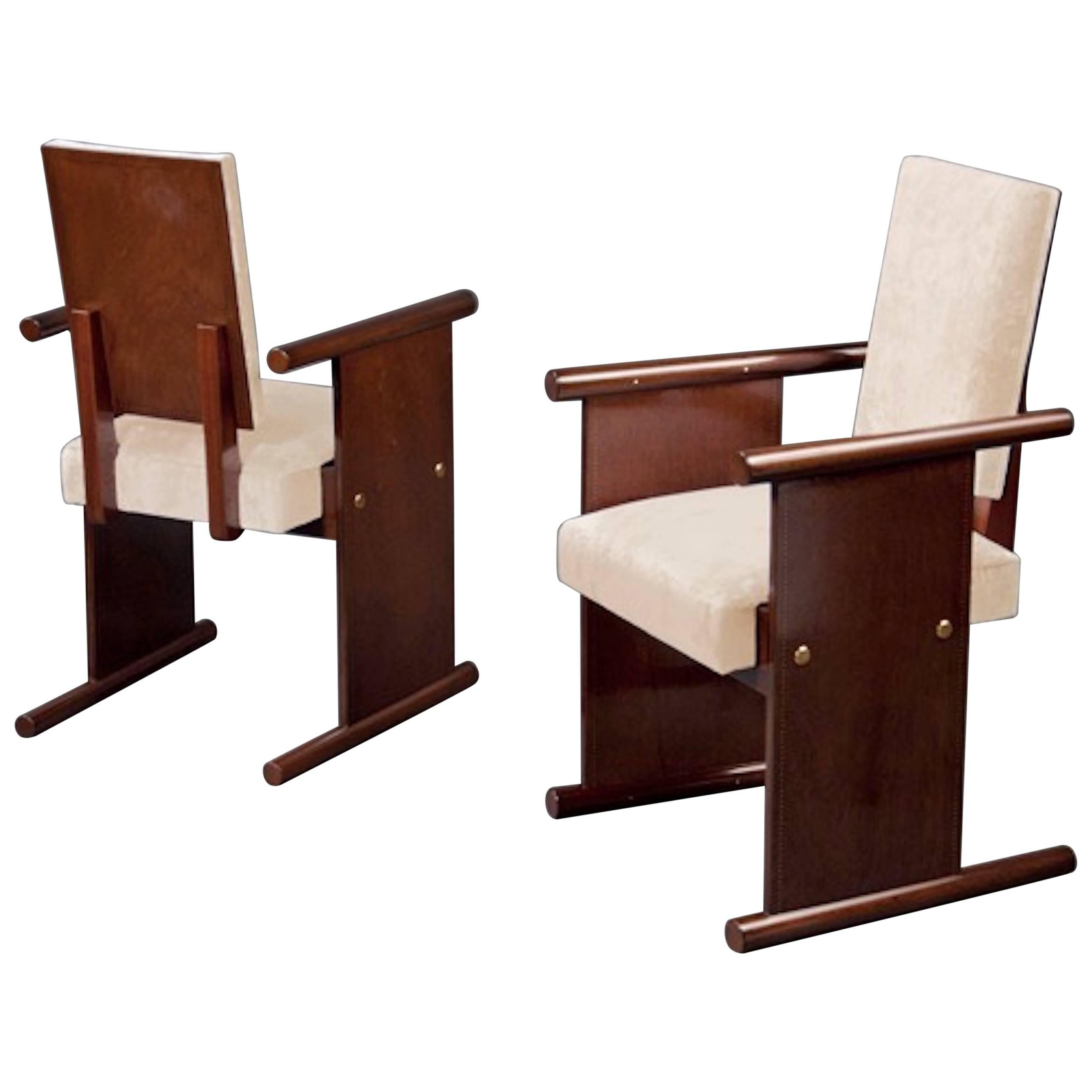 Pair of Armchairs by André Sornay, France, Lyon, circa 1935
