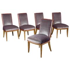 Set of 10 Chairs by Jean-Maurice Rothschild, Art Deco, France, circa 1935