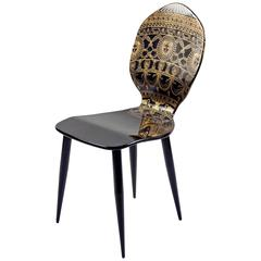 Side Chair by Piero Fornasetti, Italy, circa 1950s