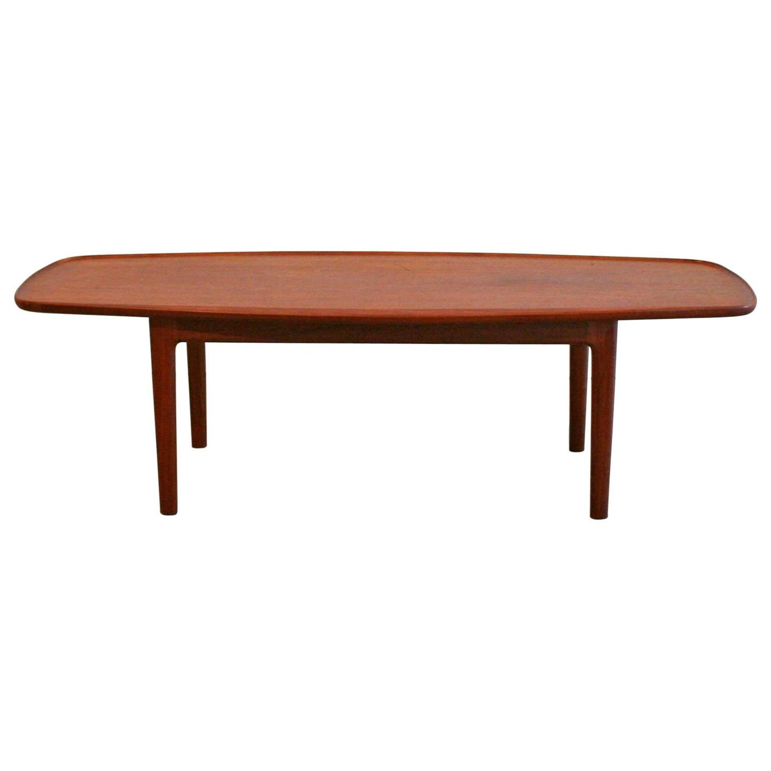 Old Teak Coffee Table: Vintage Danish Teak Coffee Table At 1stdibs