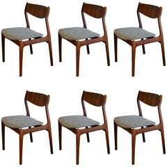 Vintage Danish Rosewood Dining Chairs Set of Six