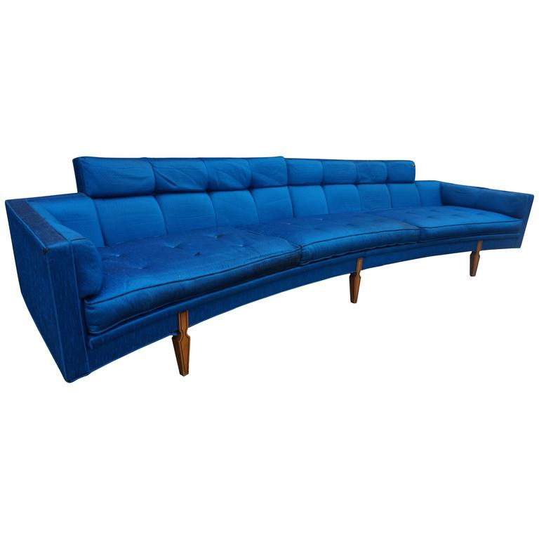 Sexy Curved American Mid-Century Modern Two Piece of Sofa